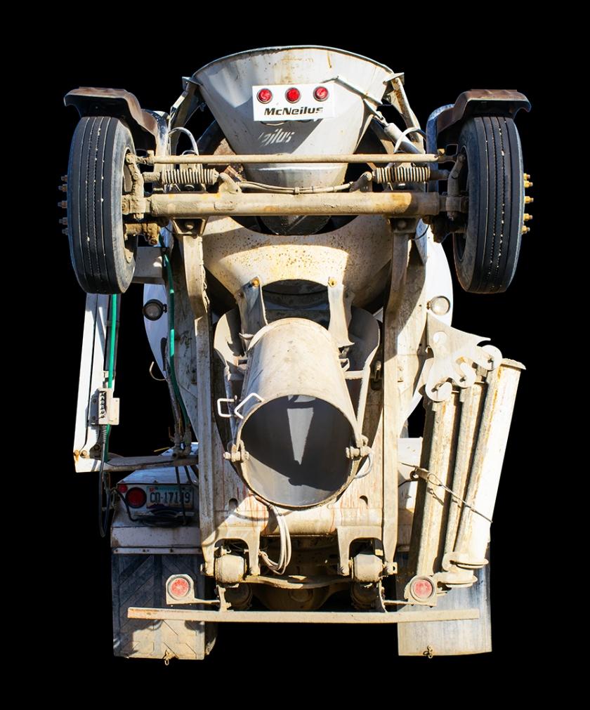 concrete truck flat noise reduction