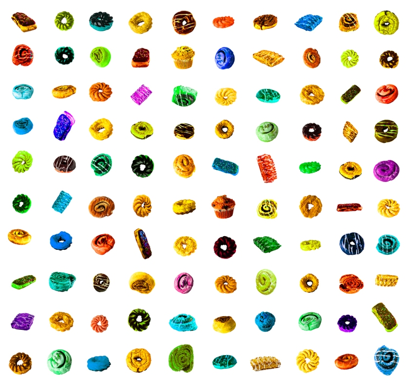 100 donuts colored blog