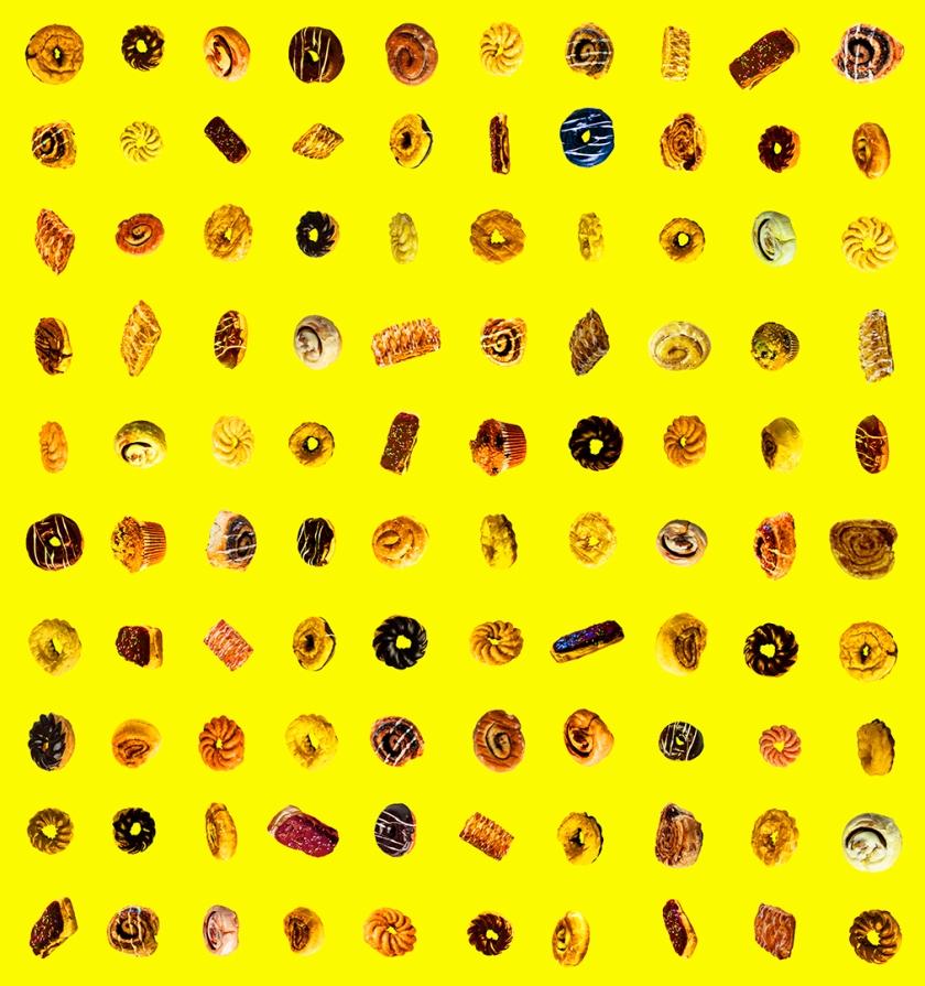 100 donuts yellow blog